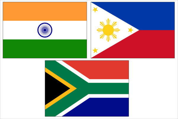 1996 - Offices in India, Philippines & South Africa